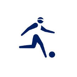 東京2020パラリンピックスポーツピクトグラム「5人制サッカー」=東京2020組織委員会提供