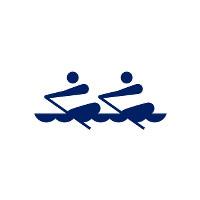 東京2020パラリンピックスポーツピクトグラム「ボート」=東京2020組織委員会提供