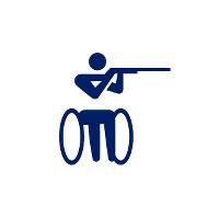 東京2020パラリンピックスポーツピクトグラム「射撃」=東京2020組織委員会提供