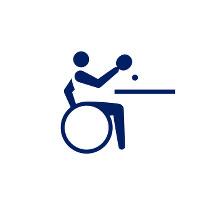 東京2020パラリンピックスポーツピクトグラム「卓球」=東京2020組織委員会提供