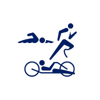 東京2020パラリンピックスポーツピクトグラム「トライアスロン」=東京2020組織委員会提供