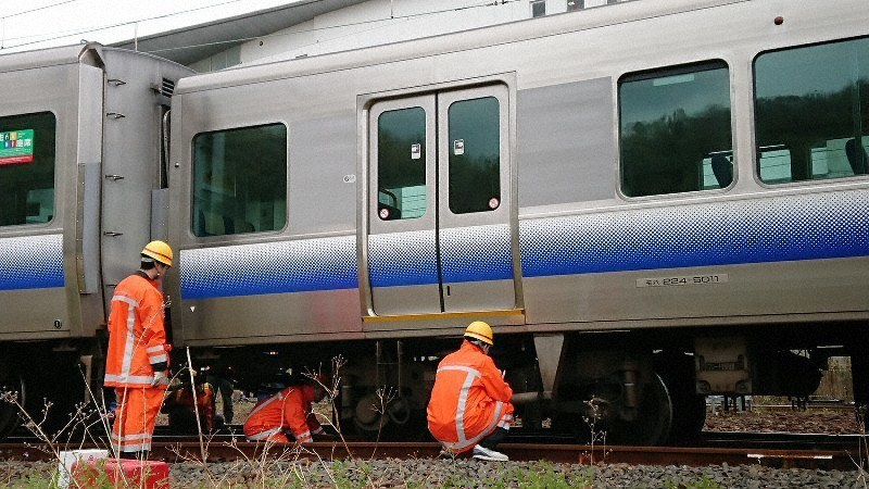 Train derails in likely track switch snafu in western Japan - The