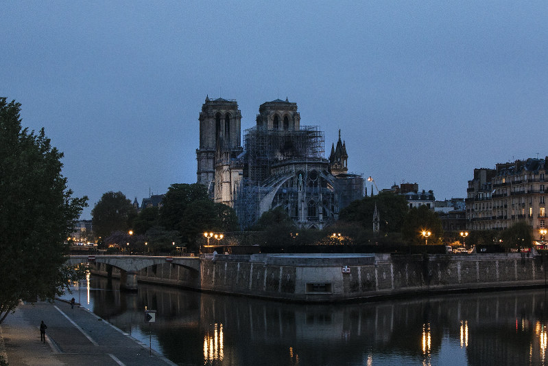 Large fire at Notre Dame Cathedral in Paris