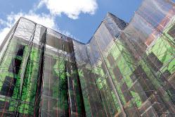 建設中のニューヨークのマンション(Bloomberg)
