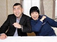 40年近い交遊の桂南光さん(左)と藤山直美さん=京都市東山区で2019年4月2日、梅田麻衣子撮影