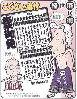 「こくさい番付」ムーディーズの日本国債格下げ観測に物言い=平成14(2002)年5月11日掲載