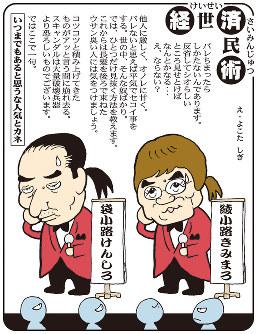 「綾小路と袋小路」松浪健四郎議員に秘書給与肩代わり問題が発覚=平成15(2003)年4月19日掲載