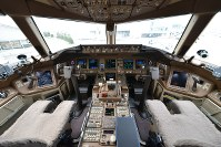 The cockpit of a new Japanese government Boeing 777-300ER jet is seen in this recent photo provided by the Air Self-Defense Force.