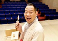 落語家の桂かい枝=神戸市兵庫区で、平川義之撮影