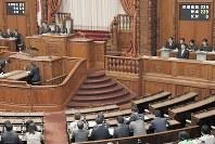 旧優生保護法下で不妊手術された障害者らへの救済法が参院本会議で可決、成立した=国会内で24日、川田雅浩撮影