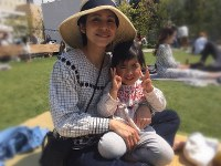 Mana and Riko Matsunaga, who both died in the April 19 accident, are seen at a park on April 6, 2019, in this photo provided by the family of the victims.