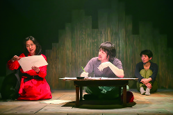 舞台「埒もなく汚れなく」の初演(2016年) (青木司撮影)