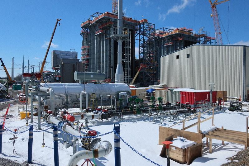 フェアビュー・天然ガス火力発電所の建設現場=米東部ペンシルベニア州ジャクソン区で