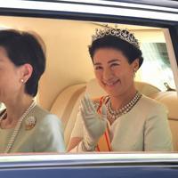 赤坂御所から出られる新皇后雅子さま=東京都港区で2019年5月1日午前10時41分、宮間俊樹撮影