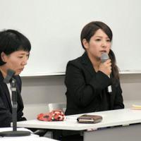 事故への思いを語る高田絵里さん(右)