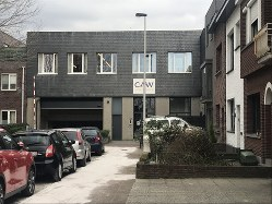 家族へのカウンセリングが行われていたコミュニティー施設=ベルギー北部アントワープで、八田浩輔撮影