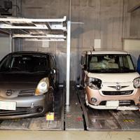 報道陣に公開された事故車両=滋賀県警大津署で2019年5月8日午後4時7分、幾島健太郎撮影