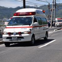 園児の列に車が突っ込んだ現場付近=大津市大萱6で2019年5月8日午前11時14分、小西雄介撮影