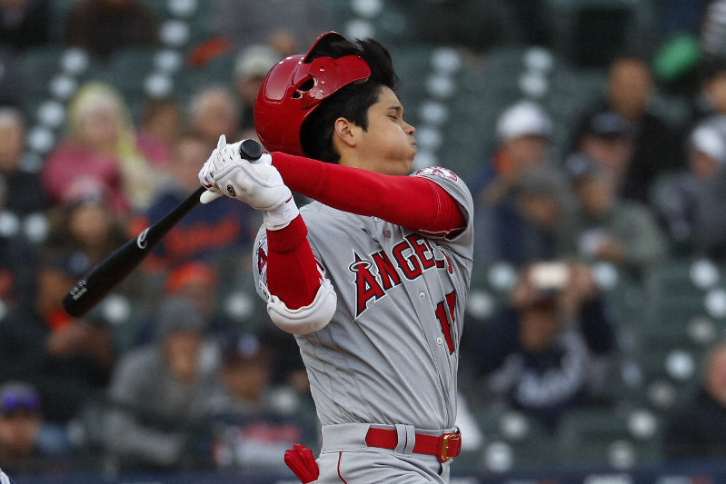 best service f5390 a5e72 MLB: Ohtani goes 0 for 4 in season debut, Angels beat Tigers ...