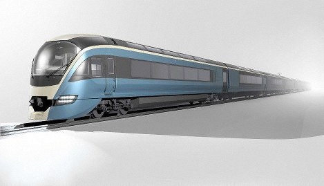 This illustration shows JR East's new sightseeing limited express