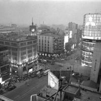 ネオンがきらめく銀座の夜景=中央区で1964年7月