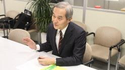 楠木新さん=2019年2月25日、川村彰撮影