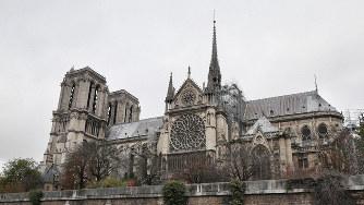 火災前のノートルダム大聖堂=パリで2018年11月24日、幾島健太郎撮影