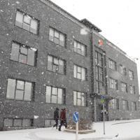アイスランド・レイキャビクで威容を誇る中国大使館=3月11日