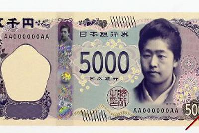 新紙幣のイメージ=喜屋武真之介撮影