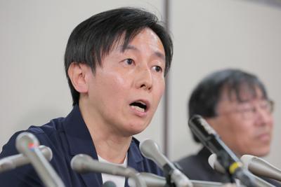 サイボウズの青野慶久社長=2019年3月25日、和田大典撮影