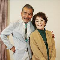 映画「初恋~お父さん、チビがいなくなりました」で夫婦役を演じる倍賞千恵子(右)と藤竜也=大阪市北区で、大西達也撮影