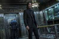 This image released by Lionsgate shows Keanu Reeves in a scene from 'John Wick: Chapter 3 - Parabellum.' (Niko Tavernise/Lionsgate via AP)