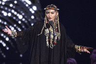 In this Aug. 20, 2018 file photo, Madonna presents a tribute to Aretha Franklin at the MTV Video Music Awards at Radio City Music Hall in New York. (Photo by Chris Pizzello/Invision/AP)