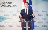 Austrian Chancellor Sebastian Kurz, of the Austrian People's Party, OEVP, addresses the media during a news conference in Vienna, Austria, on May 20, 2019. (AP Photo/Michael Gruber)