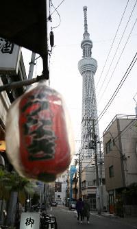 Tokyo Skytree is seen in Tokyo's Sumida Ward, on April 23, 2019. (Mainichi/Kota Yoshida)