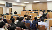 A courtroom where a defendant was handed a ruling over rape resulting in injury and other charges is seen at the Yamagata District Court in this April 25, 2018 file photo. (Pool photo)