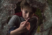 This image released by Sony Pictures shows Jackson A. Dunn in a scene from Screen Gems' 'Brightburn.' (Boris Martin/Sony Pictures via AP)