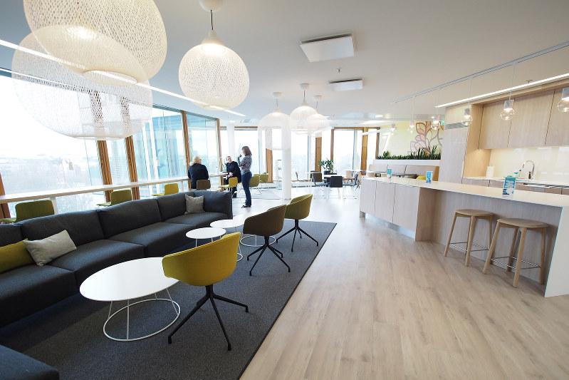 フィンランドで浸透しつつある新しいオフィス(筆者提供)