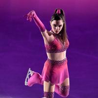 演技を披露するエフゲニア・メドベージェワ=千葉市美浜区で2019年5月24日、竹内紀臣撮影