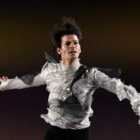 演技を披露するステファン・ランビエル=千葉市美浜区で2019年5月24日、竹内紀臣撮影