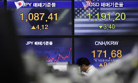 A currency trader walks near the screens showing the foreign exchange rates at the foreign exchange dealing room in Seoul, South Korea, on May 24, 2019. (AP Photo/Lee Jin-man)