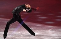 Yuzuru Hanyu performs at the