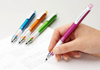 Some mechanical pencils with a high level of writing comfort are seen in this photo provided by Mitsubishi Pencil Co.