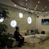 広々としたリビング。廊下の幅も1メートルでゆったりとしている=東京都中央区晴海で2019年5月7日、宇田川恵撮影