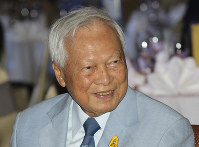 In this Nov. 11, 2014 file photo, former Prime Minister Prem Tinsulanonda attends a charity function in Bangkok, Thailand.(AP Photo/Sakchai Lalit)