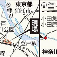 現場や登戸駅、カリタス小などの位置