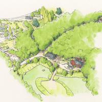「どんどこ森エリア」のイメージ図 ⒸStudio Ghibli