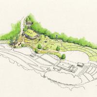 「もののけの里エリア」のイメージ図 ⒸStudio Ghibli