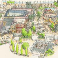 「ジブリの大倉庫エリア」のイメージ図 ⒸStudio Ghibli