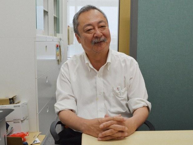酒乱について語る真先敏弘・帝京科学大教授=東京都足立区の同大で2019年5月29日、和田浩幸撮影